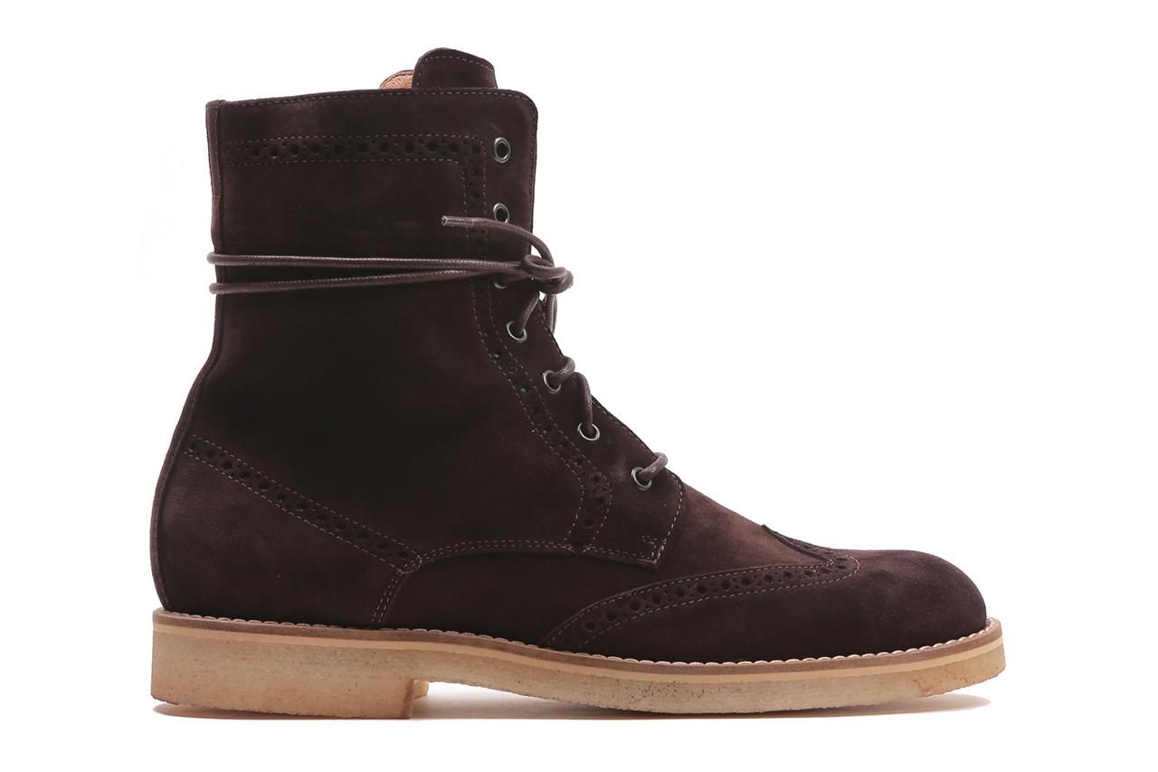 Image of Del Toro Espresso Suede Wingtip Boots