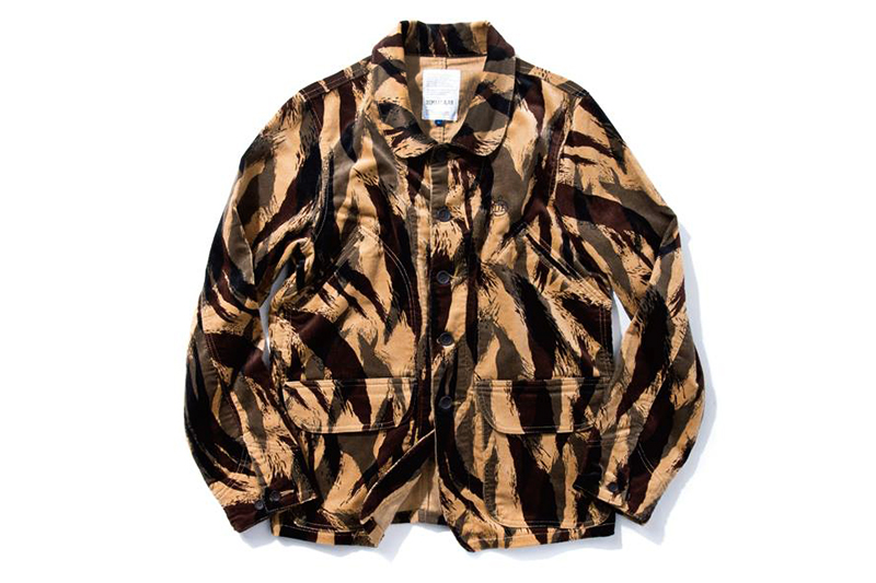 Image of DeMarcoLab TIGER CAMO CORD. FIELD COAT