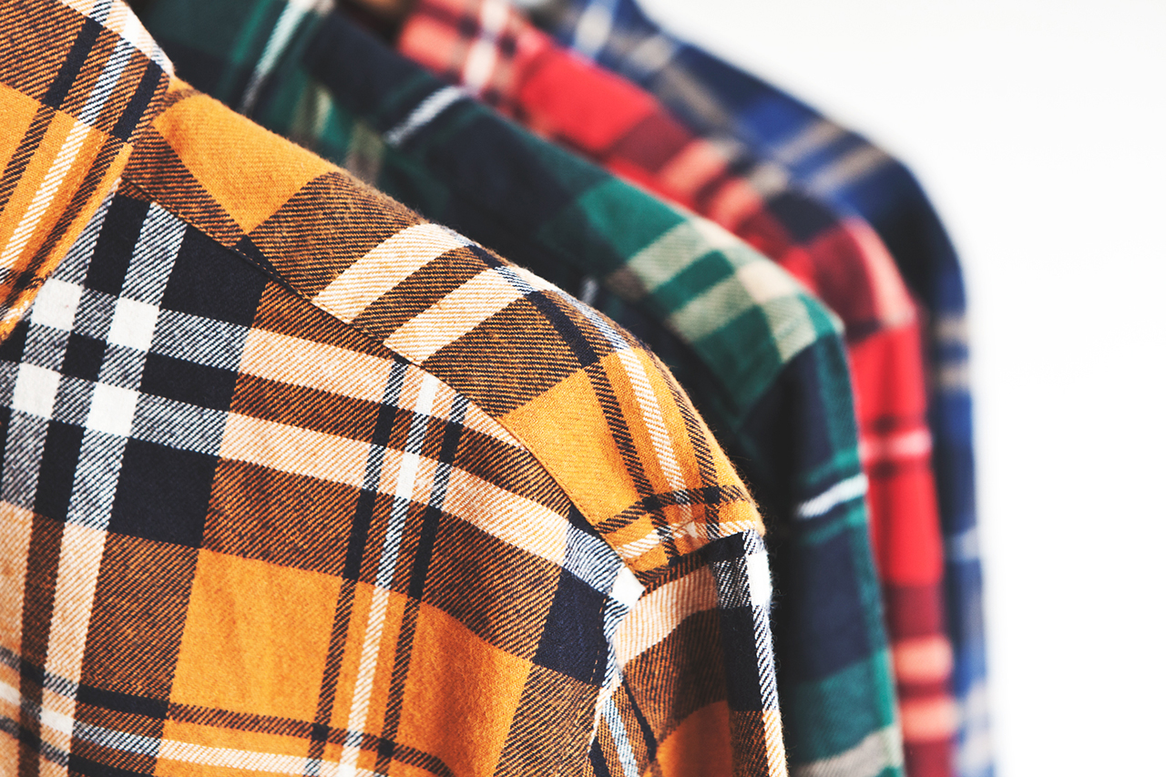 Image of DQM Steamer Plaid Cotton Flannel Shirts