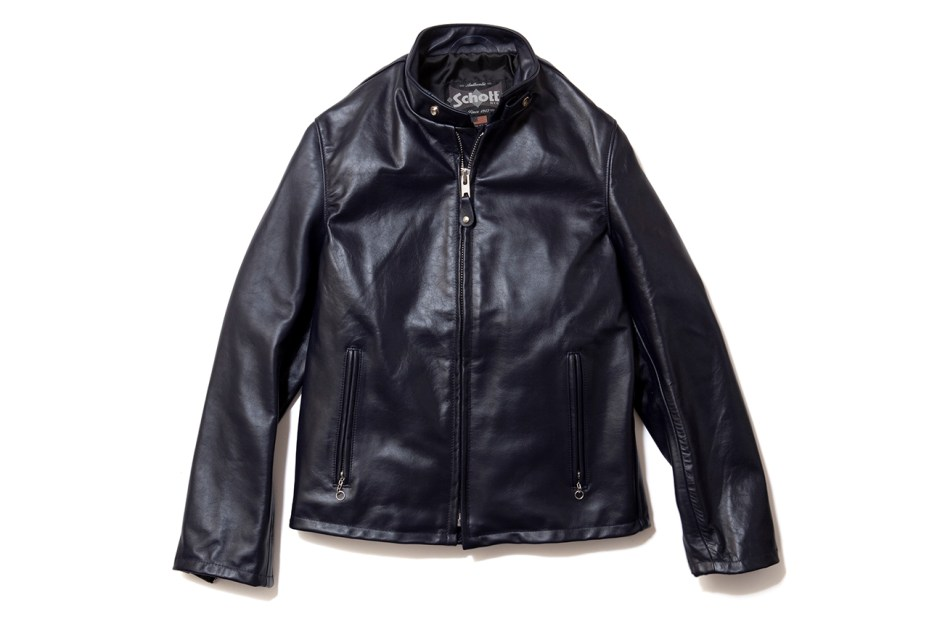 Image of EXPANSION x Schott Cowhide Casual Racer 654 Jacket