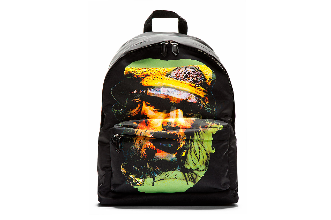 Image of Givenchy Black & Yellow Printed Minotaur Backpack