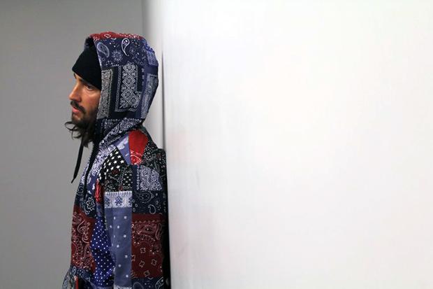 Image of GPPR 2014 Pre-Spring Bandana Print Bandit Pullover Hoodie
