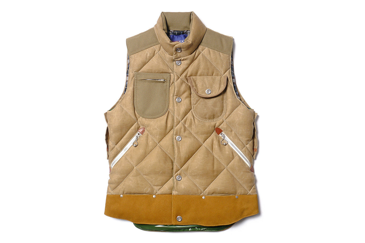 "Image of Junya Watanabe MAN x Duvetica ""Marsia"" Cotton Moleskin Paraffin Down Feather Vest"