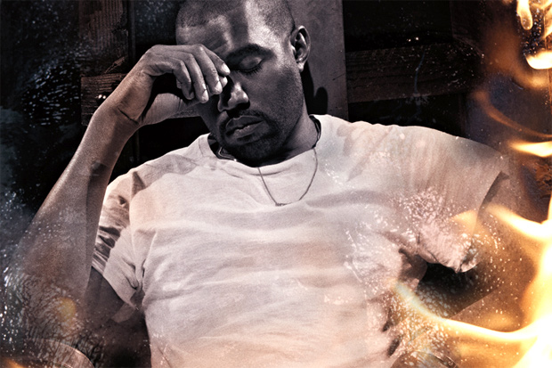 Image of Kanye West by Steve McQueen for Interview Magazine