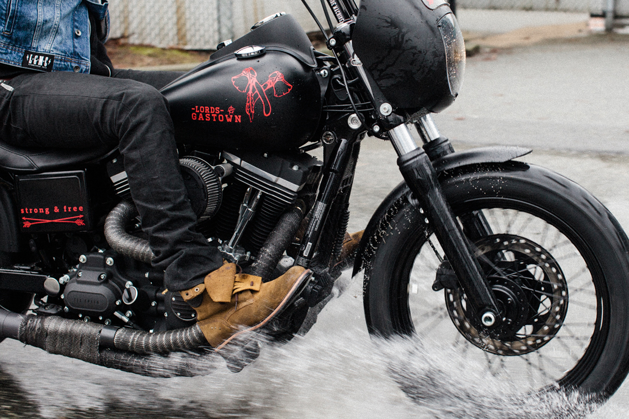 Image of Lords of Gastown x Barnes Harley-Davidson Limited Edition ʻStrong & Free' Custom Street Bob