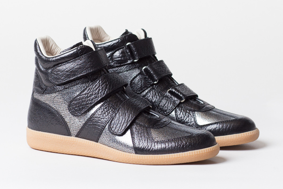 Image of Maison Martin Margiela Metallic Crackle Sneaker