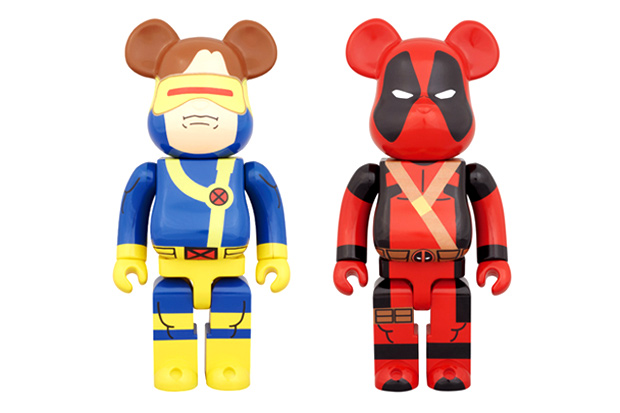 Image of Marvel x Medicom Toy 400% Deadpool & Cyclops Bearbrick