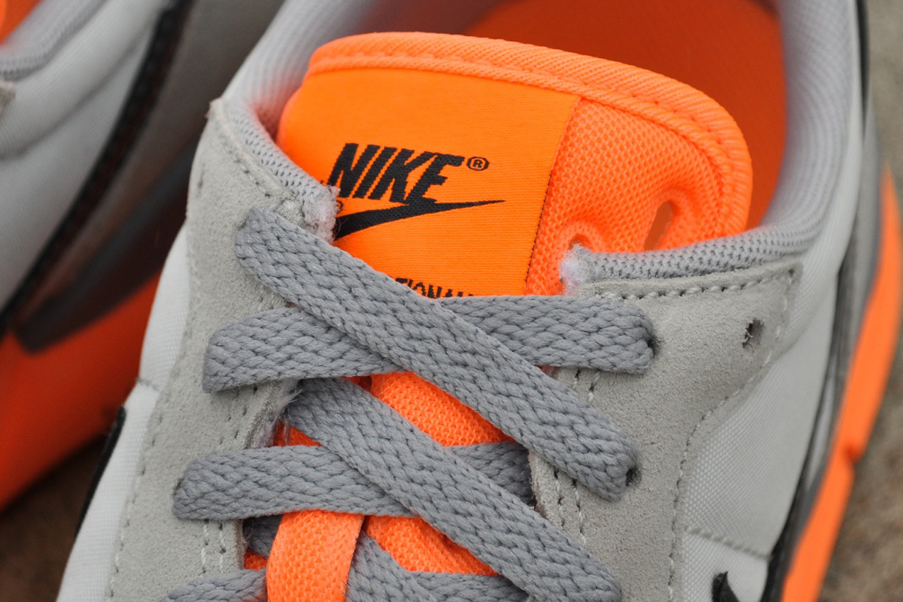 Image of Nike Lunar Internationalist Light Base Grey/Dark Grey-Atomic Orange