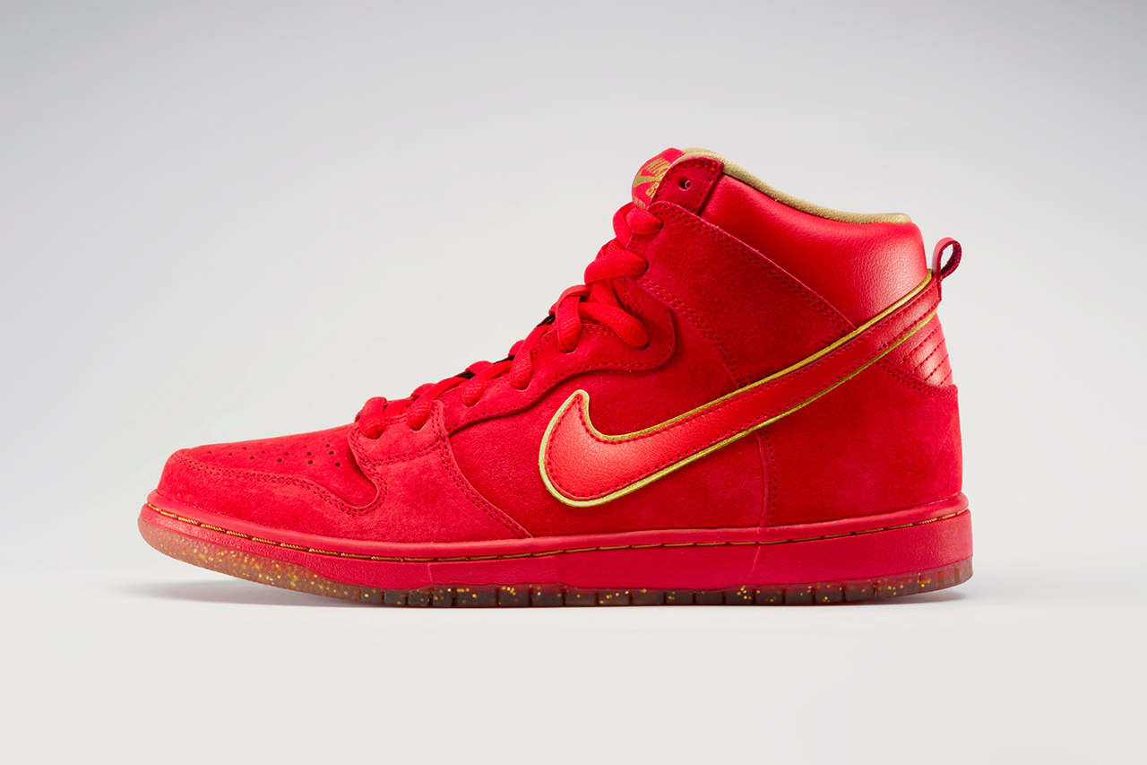 Nike sb dunk high premium quot red packet quot hypebeast