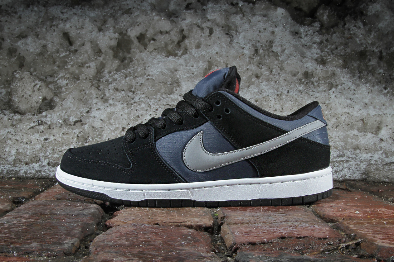 Image of Nike SB Dunk Low Pro Black/New Slate-Reflective Silver