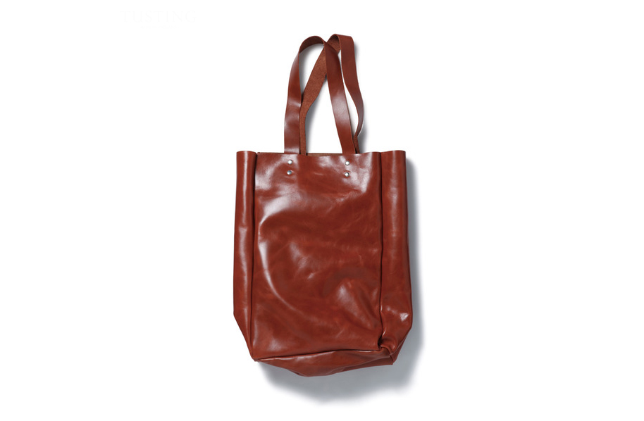 Image of SOPHNET. x Tusting Leather Tote Bag Collection