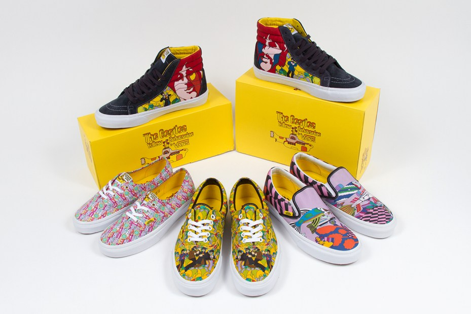 "Image of The Beatles x Vans ""Yellow Submarine"" Collection"