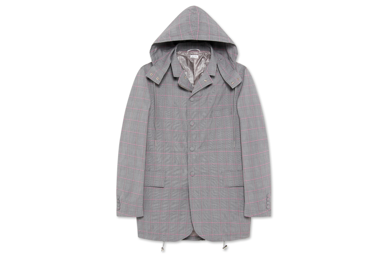 Image of Thom Browne Fishtail Hooded Jacket