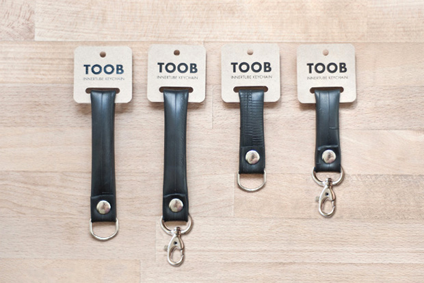 Image of TOOB Recycled Innertube Keychains