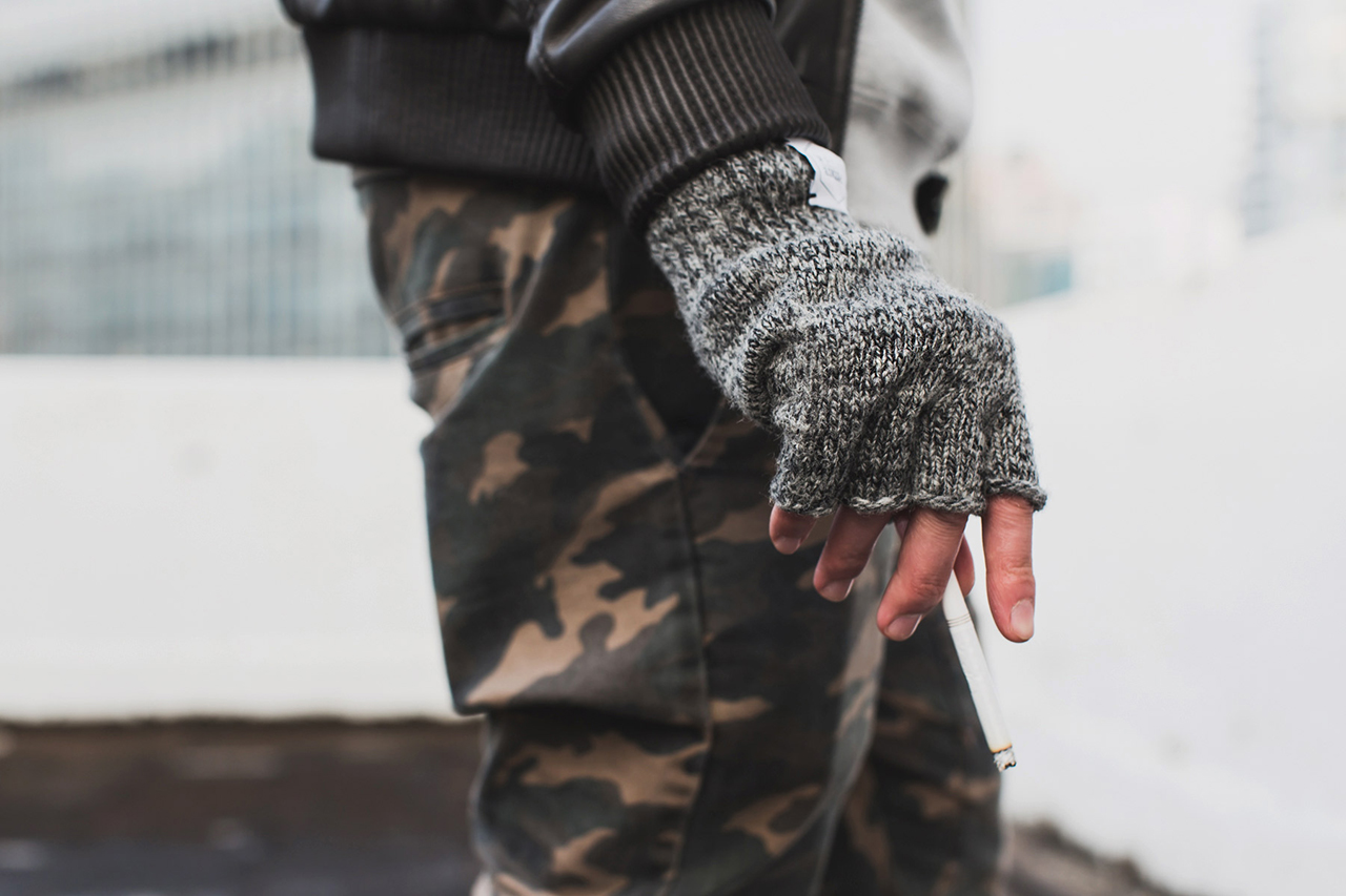 Image of Upstate Stock Ragg Wool Fingerless Glove