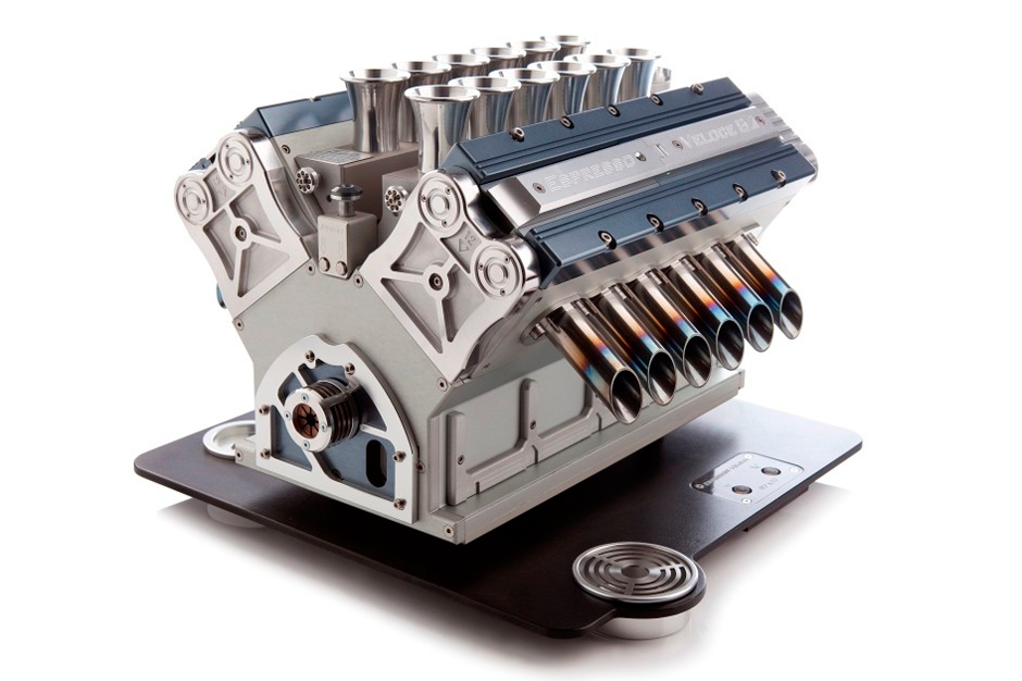 Image of V12 Espresso Machine Pulls Design Concept From Formula One Engines