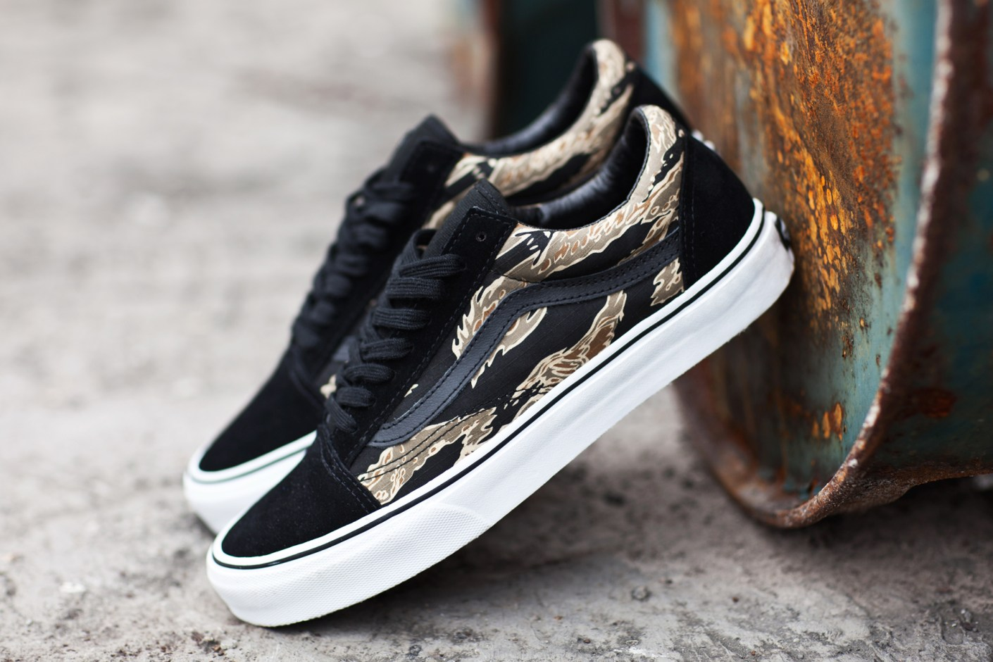 Image of Vans Classics 2014 Spring Old Skool Tiger Camo/Black