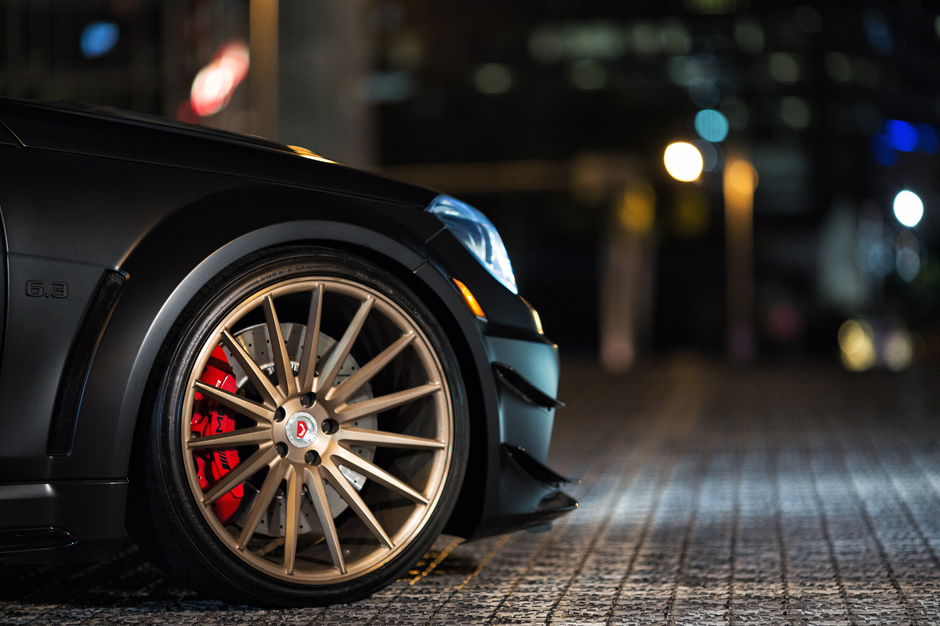 Image of The Vossen Precision Series Meets the Mercedes-Benz C63 AMG Black