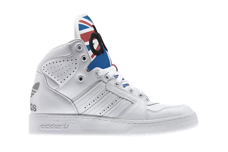 Image of adidas Originals by Jeremy Scott Instinct High Union Jack White/Satellite/Light Scarlett