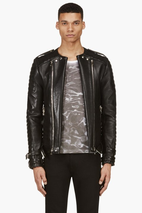 Image of Balmain 2014 Spring/Summer Leather Jacket Collection