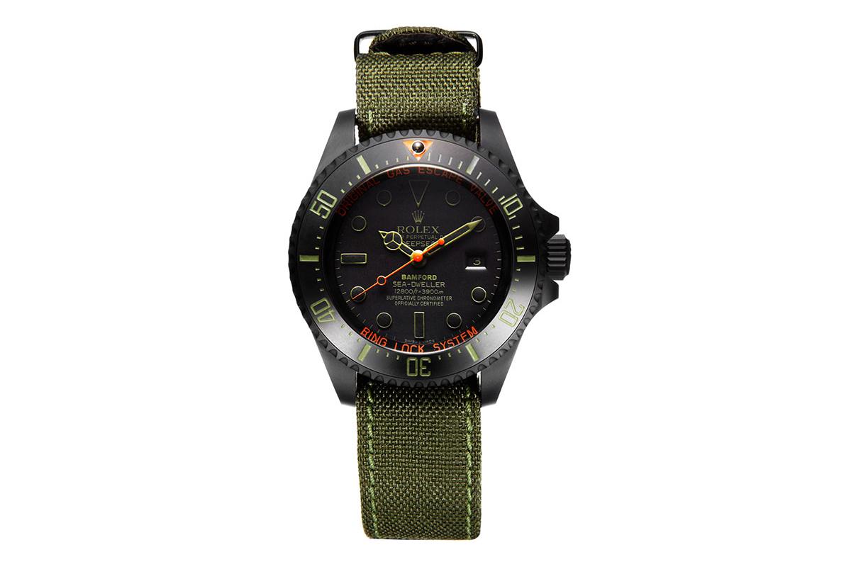 "Image of Bamford Watch Department Rolex Deepsea ""Military"""