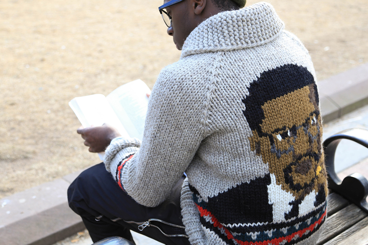 "Image of Bodega x Granted ""Malcolm X"" Wool Sweater"