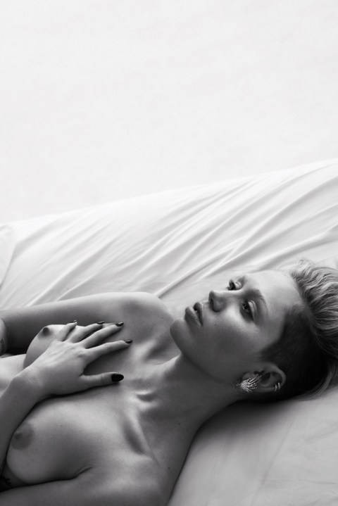 "Image of Celebrities Undress for W Magazine's ""Pillow Tweets"" Editorial by Mert & Marcus"