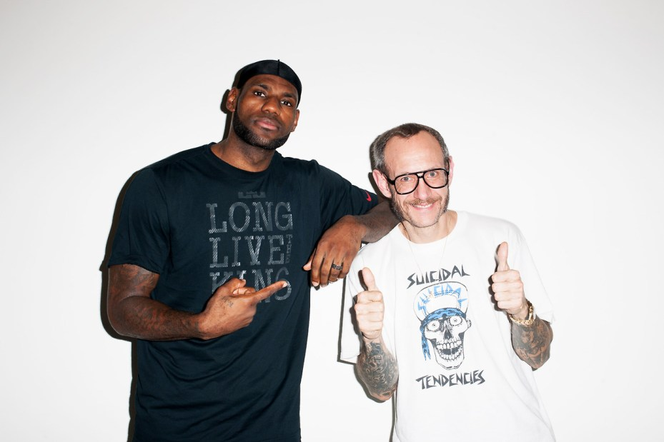 Image of LeBron James Visits Terry Richardson's Studio