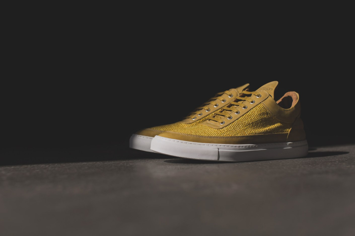 Image of Filling Pieces 2014 Spring/Summer Yellow Carpet Textile/Nubuck Lowtop