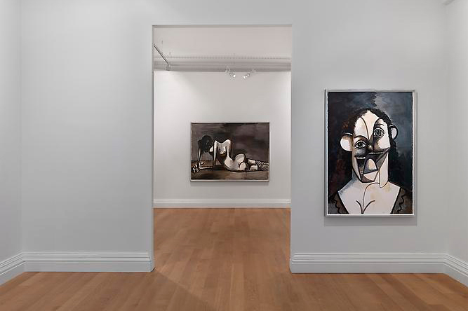 "Image of George Condo ""Ink Drawings"" @ Skarstedt Gallery London"