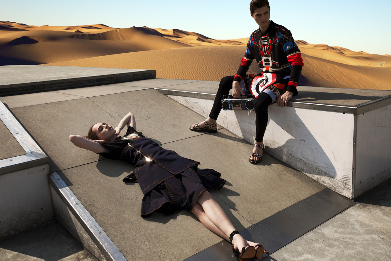 "Image of Givenchy 2014 Spring/Summer ""Driving the Dunes of Erg Chebbi"" Editorial"