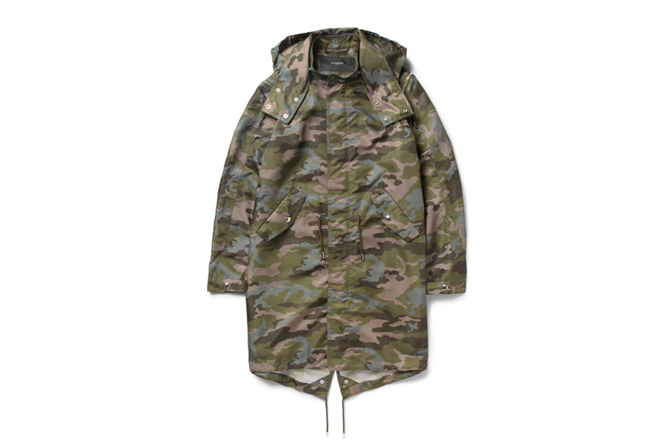 Image of Givenchy Camouflage-Print Hooded Parka