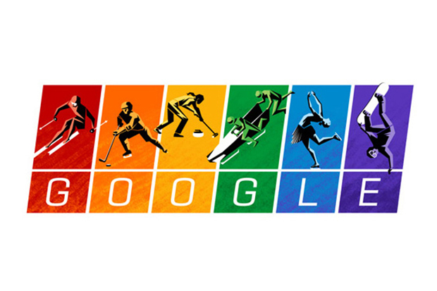 Image of Google Shows Support for Gay Rights as the Olympics Get Underway in Sochi