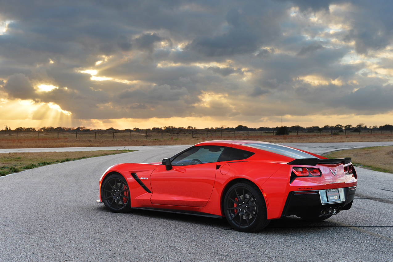 Image of Hennessey Twin-Turbo Corvette Stingray HPE700