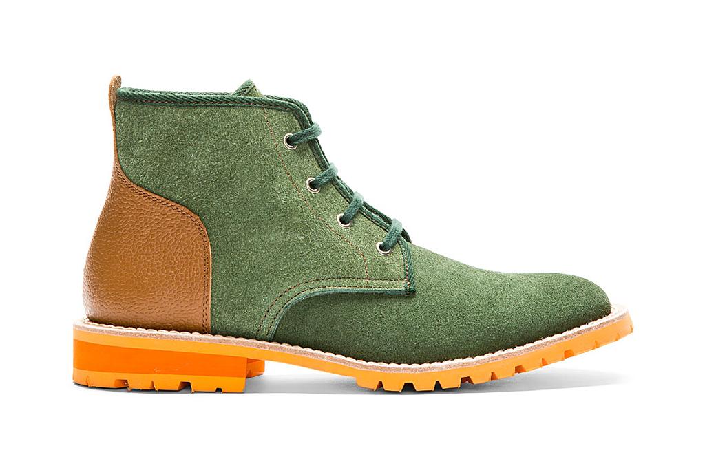 Image of Junya Watanabe MAN Green & Cognac Lace-Up Boots