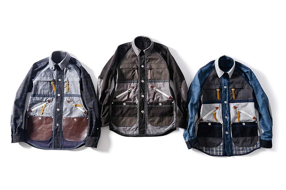 Image of Junya Watanabe MAN x Seil Marschall Reversible Cotton Moleskin Paraffin Shirt Jacket Collection