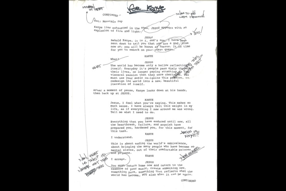 Image of Is This the First Look at the 'Yeezus' Script from Bret Easton Ellis?