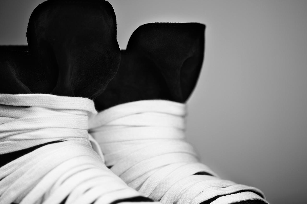 Image of KRISVANASSCHE 2014 Spring/Summer Multi-Lace Hightop Sneakers