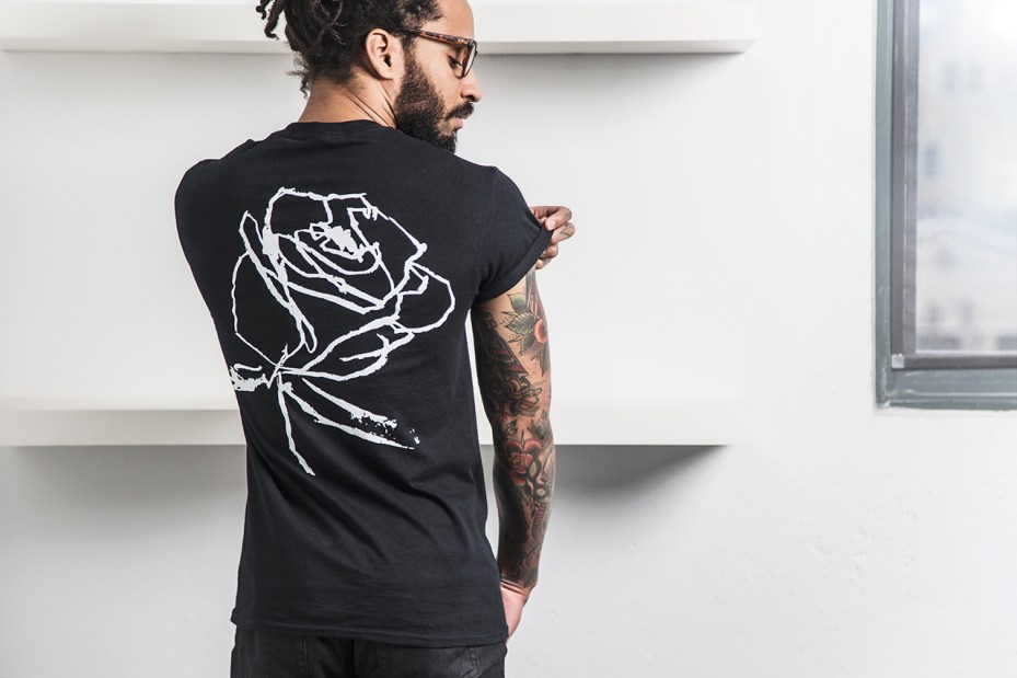 "Image of Markeidric Walker x Wish Atlanta ""Roses"" Black History Month T-shirt Collection"
