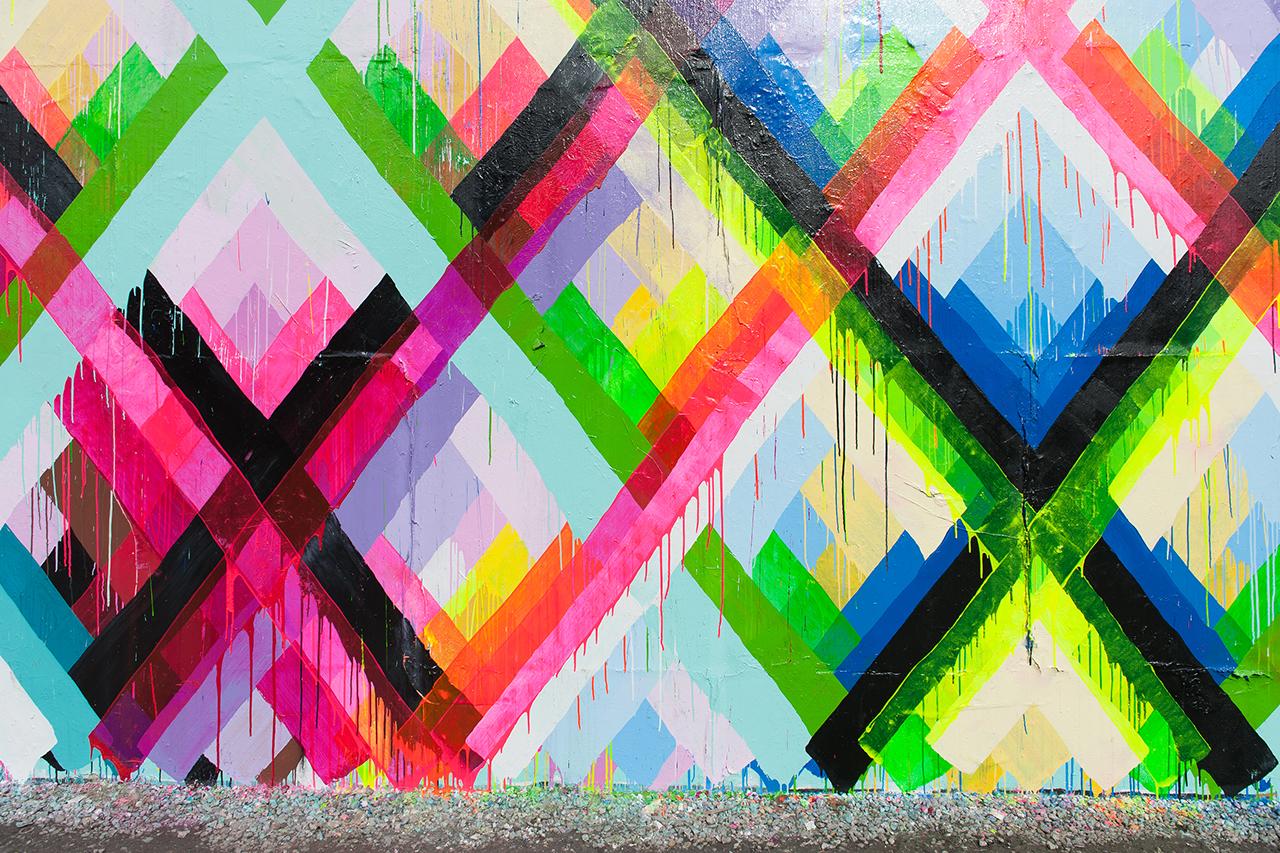Image of Maya Hayuk's Bowery Mural