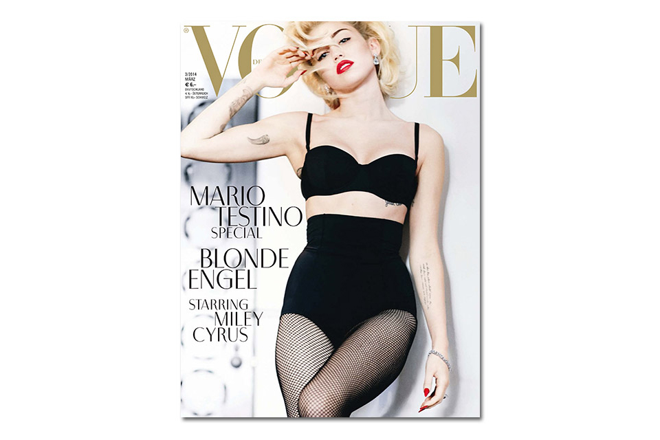 Image of Miley Cyrus by Mario Testino for Vogue Germany