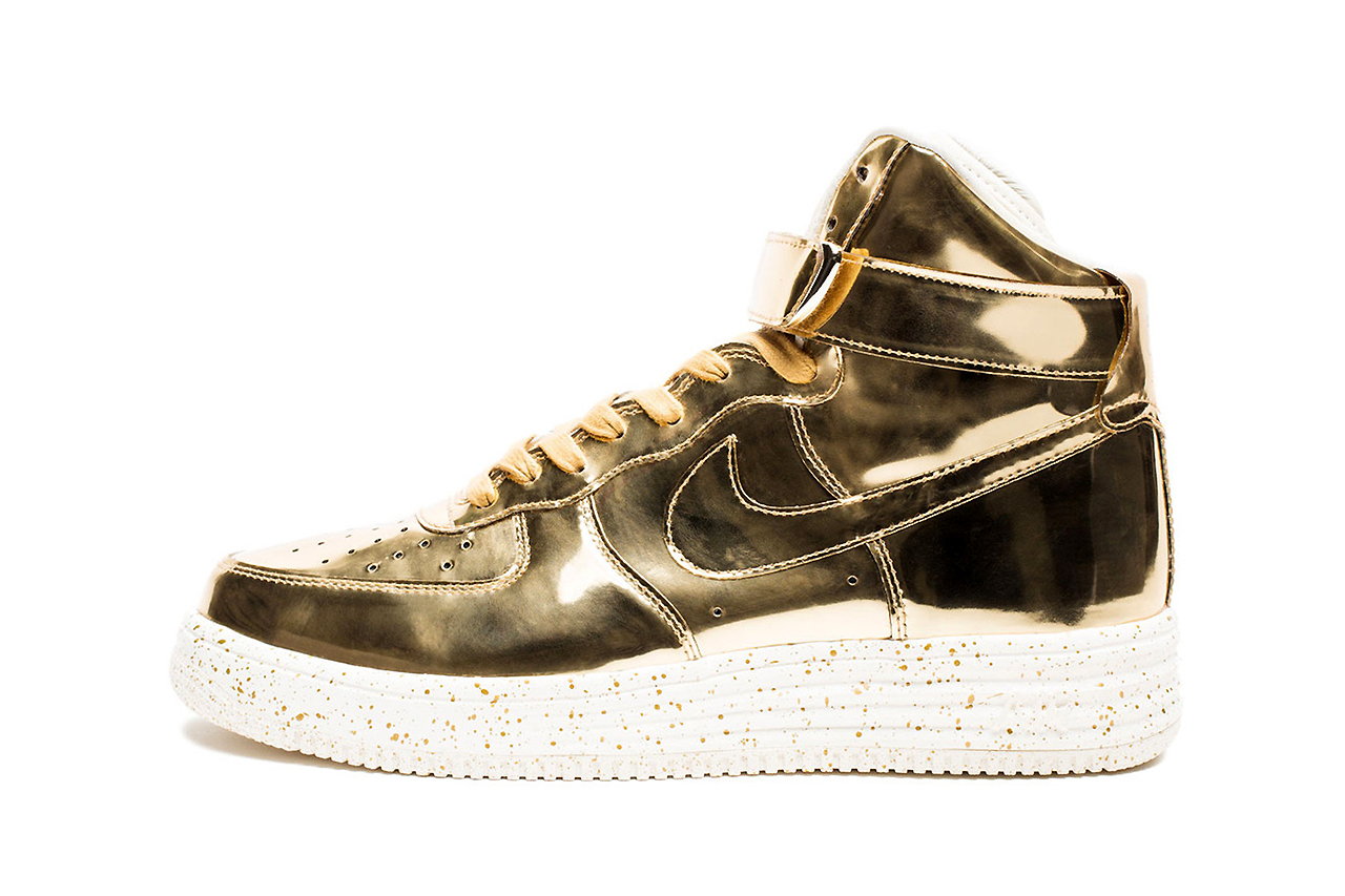 "Image of Nike 2014 Lunar Force 1 High SP ""Liquid Metal"" Pack"