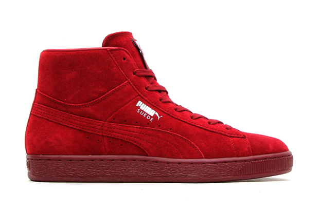"Image of PUMA Suede Mid Classic+ ""Pomegranate"""
