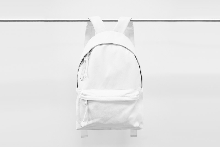 Image of Stampd White Leather Backpack