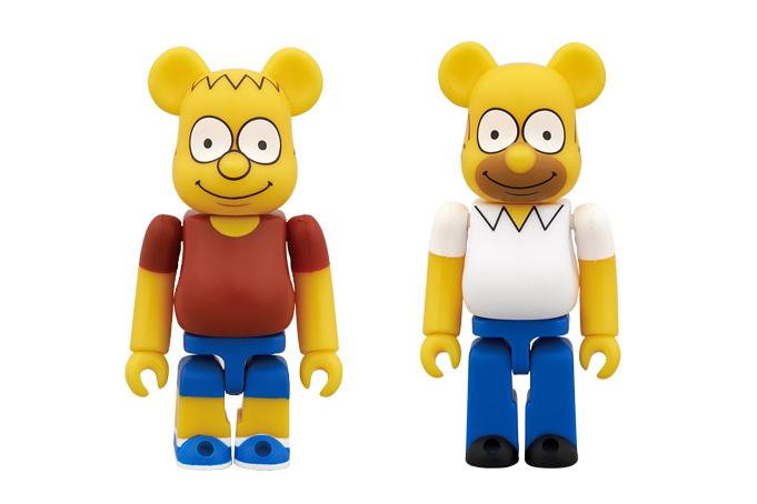 Image of The Simpsons x Medicom Toy Bart & Homer Simpson Bearbricks