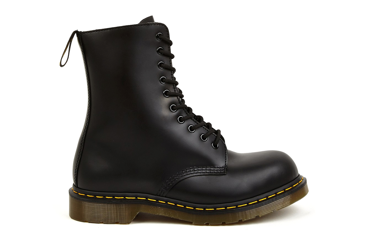 Image of Yohji Yamamoto x Dr. Martens 2014 Spring/Summer 10-Eye Leather Boots