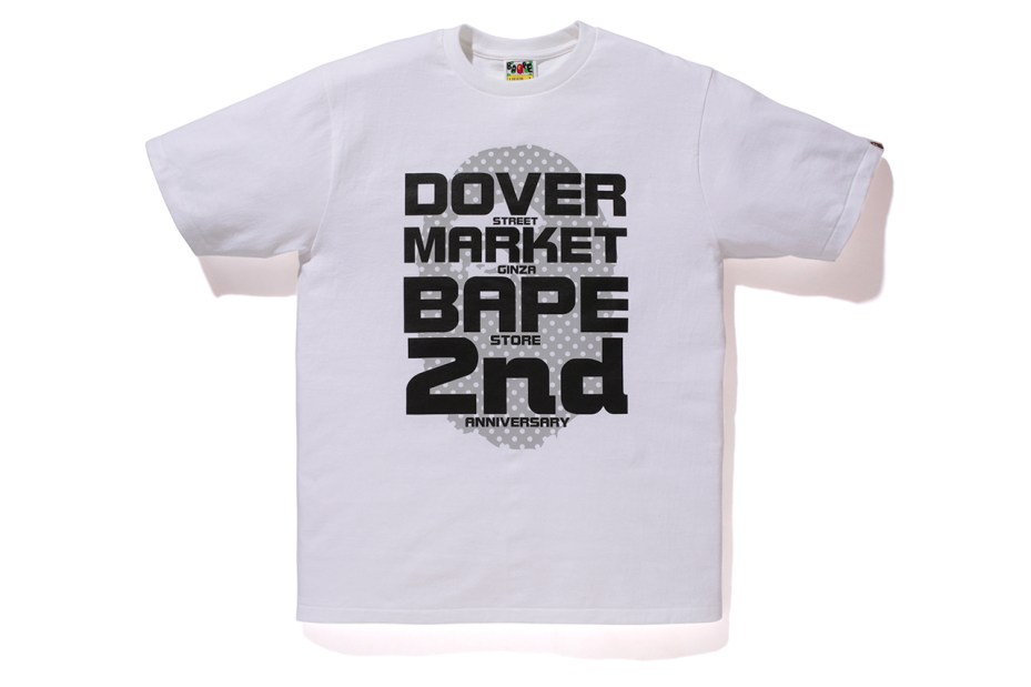 "Image of A Bathing Ape ""DOVER STREET MARKET GINZA 2nd Anniversary"" T-Shirts"