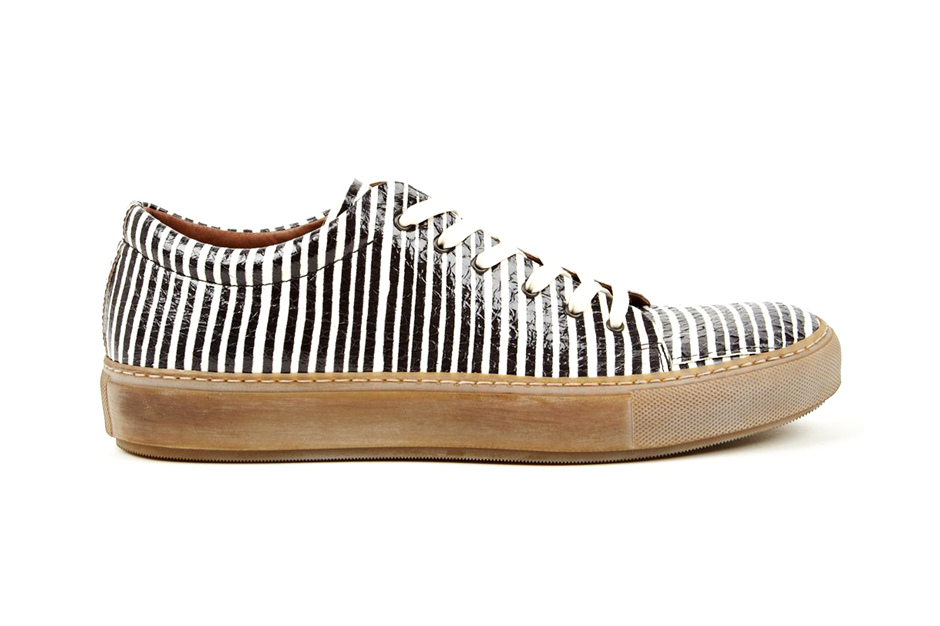Image of Acne Studios Adrian Snake Sneakers Black/White