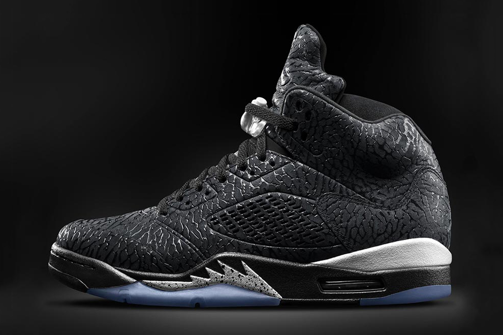 Image of Air Jordan 3Lab5 Black/Metallic Silver