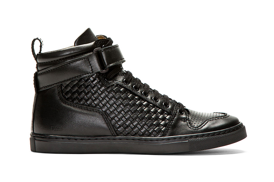 Image of AMI Woven Leather High-Tops